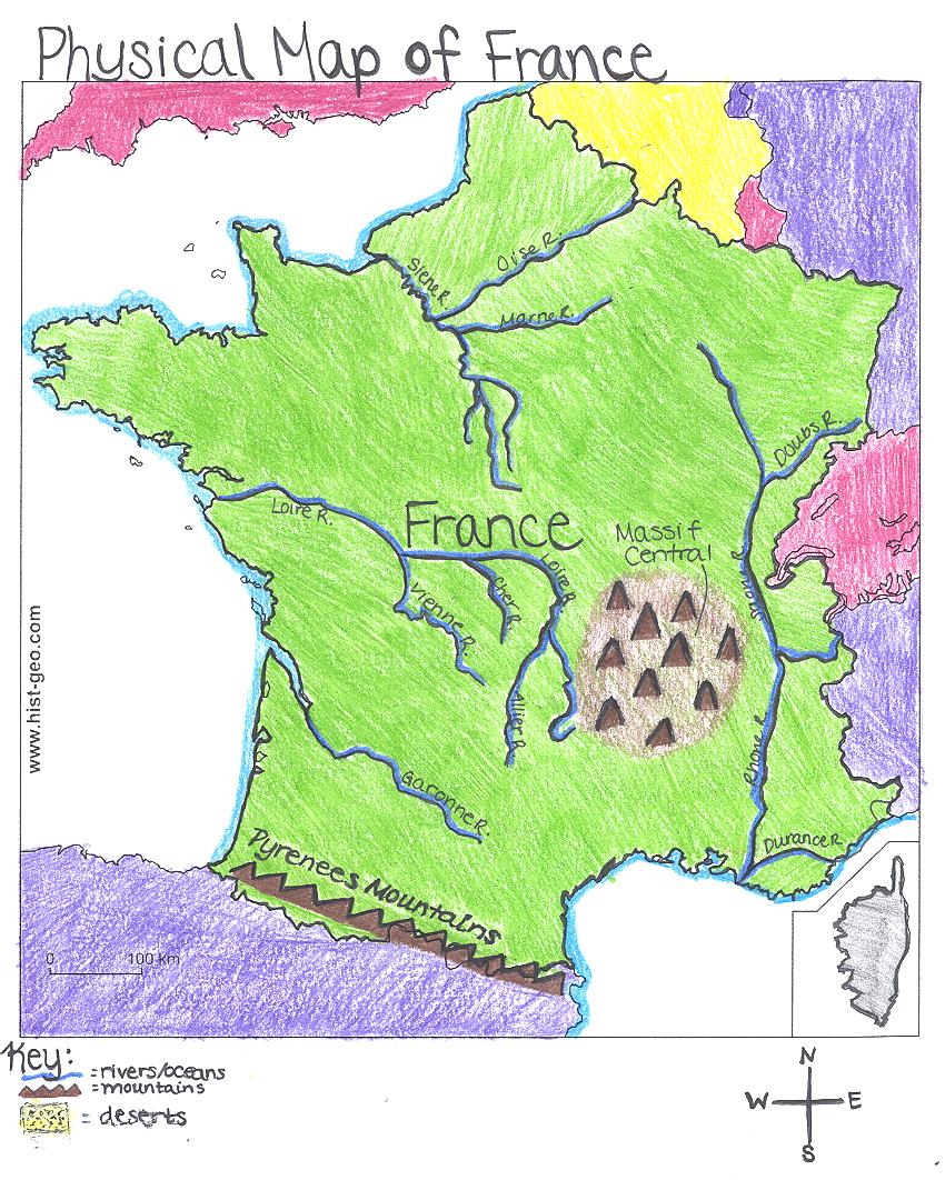 Ljhsjdole FrontPage - France physical map